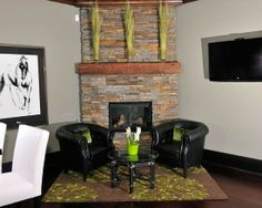 Just Re faced My Corner Fireplace With Old Reclaimed Barn