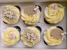 Thank you cupcakes with hand made cupcakes toppers by Euthymia Cakes