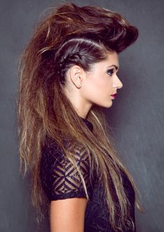 Repost, Edgy style by Marine Mua.. id love if i  could do this to my own hair! looks amazeballs