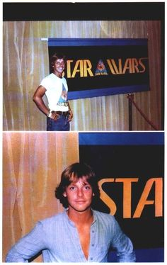 Mark Hamill advertising a Star Wars logo I am not familiar with. Could this be his audition?