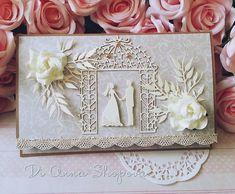 Wedding Card Handmade money gift envelope, bride & groom, congratulations