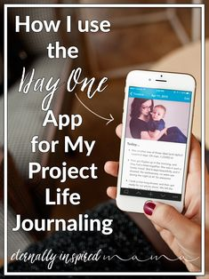 Project Life Tips: Click here to learn how I use the Day One iPhone app for my Project Life journaling.