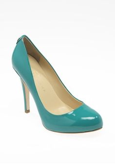 "Ivanka Trump 4 1/2 "" turq pump. A bit high for me but do pretty. $125"