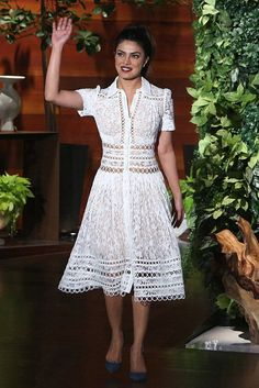 WHO: Priyanka Chopra  WHAT: Zimmermann  WHERE: On The Ellen DeGeneres Show, Burbank, California  WHEN: October 25, 2016