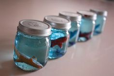 How to make Under the Sea snow globe aquariums on http://www.chickabug.com/blog
