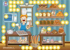 Interactieve praatplaat thema bakker by Petra van Ginkel van kleuteridee, met veel informatieve video's voor kleuters