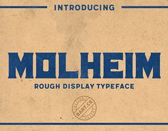 "Check out new work on my @Behance portfolio: ""Molheim - vintage typeface"" http://be.net/gallery/53357167/Molheim-vintage-typeface"