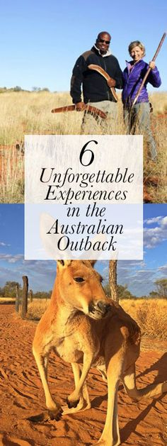 The Outback covers roughly 2.5 million square miles and takes up almost all of Australia. You have to narrow it down a bit when planning a trip. Here are 6 remarkable places I'd suggest checking out.