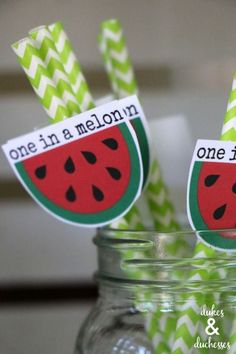 creative ideas for a watermelon themed party Watermelon Cupcakes, Cute Watermelon, Creative Crafts, Creative Ideas, Watermelon Painting, Polka Dot Cupcakes, Homemade Tattoos, Swirl Lollipops, Chevron Paper