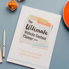 The Ultimate Website Content Planner  A workbook and