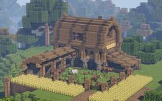 I built this farmhouse on a multiplayer server and the owners reset the world... I'm still salty about it :/ : Minecraft