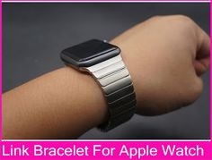 Luxury For Apple Watch Link Bracelet Band 42mm 38mm Black Silver Stainless Steel Original Banda For Iwatch Watchbands (32415656073)  SEE MORE  #SuperDeals