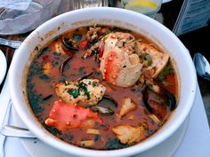 Cioppino (American West Coast fish and seafood stew). *****Quite possibly the fastest way to my heart . Even more so than my wife's recipe for Bouillabaisse.........Sorry Honey :))) - Brandon