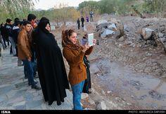 گزارش تصویری زنده شدن شبانه و موقت زایندهرود در اصفهان