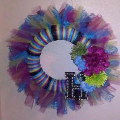 Tulle wreath :)