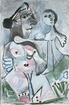 Pablo Picasso, Venus and Cupid (Vénus et l'Amour), Oil on canvas, 195 x 130 c. Kunst Picasso, Picasso Drawing, Picasso Art, Picasso Paintings, Painting & Drawing, Painting Lessons, Famous Spanish Artists, Cubist Movement, Georges Braque