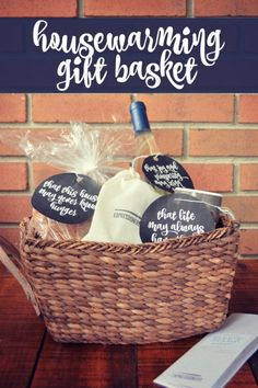 Housewarming Gift Basket Tutorial