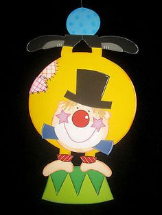 """Picture of clay cardboard """"Clown"""" - OutDecor. Clown Party, Carnival Crafts, Easy Drawings, Tweety, Kindergarten, Crafts For Kids, Techno, Projects To Try, Clay"""