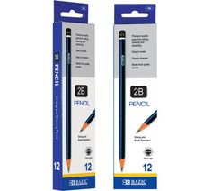 Amazon.com : BAZIC #2B Premium Wood Pencil, Blue, 12 Per Pack : Wood Lead Pencils : Office Products