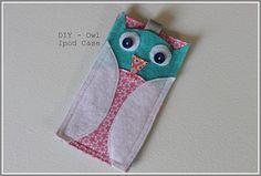 Tutorial: Felt owl iPod Touch case
