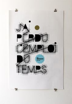 Poster - Les Graphiquants #typography