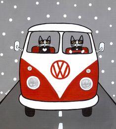 bullzara: (vía Pin de Olga en Arte & Gatos | Pinterest)