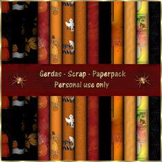 Gerdas Scrap's: Halloween-Papers