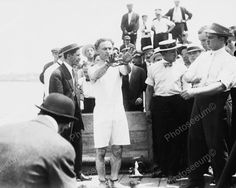 Houdini Shackeled For Stunt 1900s 8x10 Reprint Of Old Photo