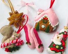 Felt Ornaments with patterns