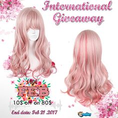 Blossom in Spring Our promotion is running till Feb 21,2017. What's more? Weekly giveaway of Lolita Pink Wig begins. Total 2 winners 1. Follow @cospicky  2. Like and Repin this pic 3. Finish above and enter here: goo.gl/lUVO1K 4.Ends on Feb 21,2017