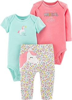 Little Joys Baby Boys and Girls 4-Piece Cotton Romper Play Sets Imported from Europe