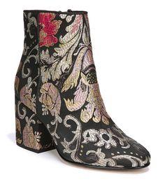 4370830f338 Sam Edelman Taye Floral Brocade Block Heel Booties  Dillards Block Heel  Ankle Boots