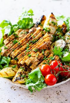 Grilled Cajun Chicken and Veggie Bowl via Real Food by Dad