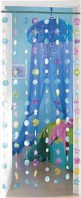 """Drape a wall, window, or doorway with our sea art to instantly give an older child's bedroom a relaxing ocean theme. Handcrafted of translucent capiz shells, the 72""""-long cascades of colorful sea creatures and big-as-can-be bubbles are delicate and beautiful. Children and adults alike will love its calm and cool effect."""