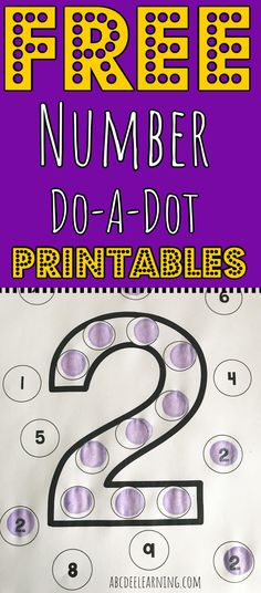 FREE Number Do-A-Dot Printables
