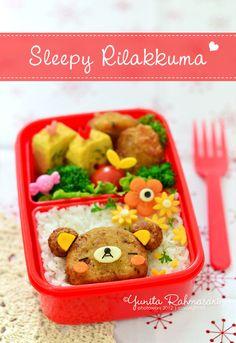 sleepy Rilakkuma bento #bento #cute #food #rilakkuma