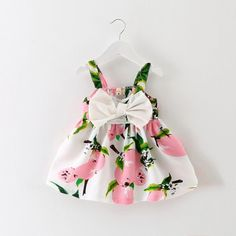 Girl dresses Lemon Print Baby Girls Clothes