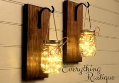 Mason Jar Sconce - Beautiful Mason Jar Decor! - Mason Jar Lights