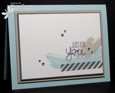 Love the color & composition of Mary's card! She used Work of Art and Epic Day Washi Tape. All supplies from Stampin' Up!