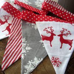 christmas scandinavian reindeer bunting by the fairground | notonthehighstreet.com
