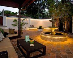 Fuente en un patio