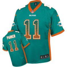 Nike Elite DeVante Parker Aqua Green Men s Jersey - Miami Dolphins  11 NFL  Drift Fashion 33f40d40a