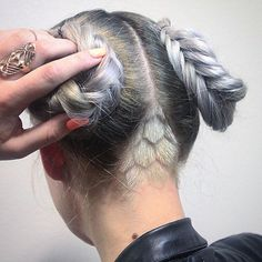honeycomb undercut design by tim_cagle on Instagram