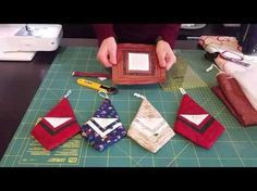 Log cabins 363525001156232691 - Santa Ornament Made from a Log Cabin Block – Quilting Digest Source by moeatribout Christmas Patchwork, Christmas Sewing, Christmas Fabric, Christmas Deco, Christmas Projects, Quilted Christmas Ornaments, Fabric Ornaments, Santa Ornaments, How To Make Ornaments