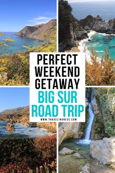 Heading to California and want to take an epic road trip for the day or a weekend getaway? Drive the Pacific Ocean coastline through Big Sur for gorgeous views, waterfalls, stunning beach hikes and plenty of photo opportunities. Use this guide to discover the best places to stop, where to stay and things to do on a Big Sur Road trip! #bigsur #california #bigsurtravel #californiatravel #californiaroadtrip