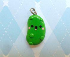 Kawaii Pickle Charm Polymer Clay Charm via Etsy