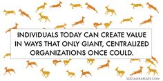 Gazelles create value by how they run together.
