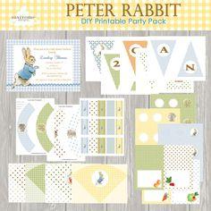 INSTANT DOWNLOAD, Peter Rabbit, Printable, Baby Shower, Birthday Party, Digital Invitation, DIY