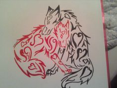 My husband and I want a version of this tattoo, with a baby wolf added for our daughter