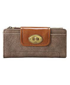 Fossil Clutch in Ash Gray $65